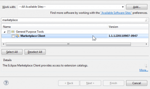 Installing Eclipse Marketplace Client