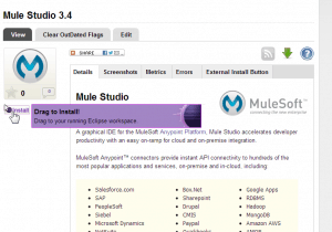 Mule Studio in Eclipse Marketplace - Screenshot