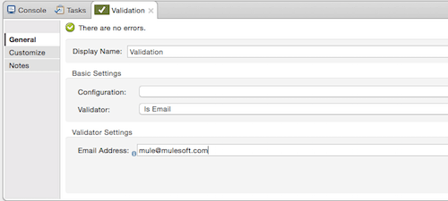 Validations screenshot