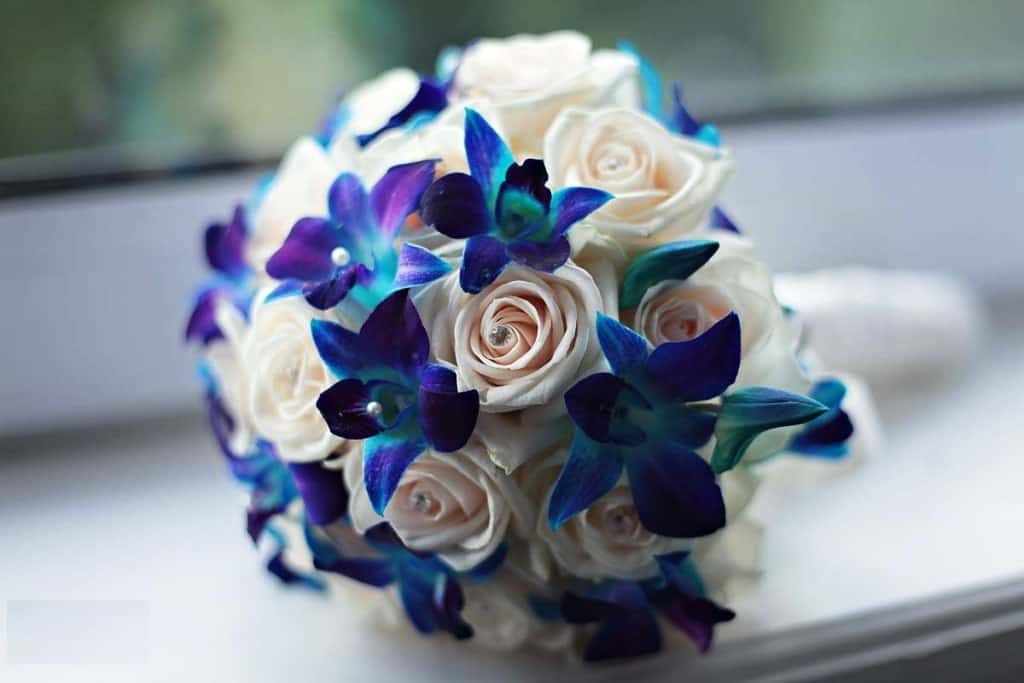 wallpaper flowers bouquet blue - photo #12