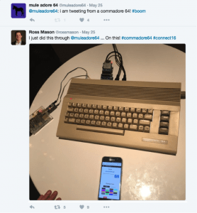 Ross tweets from Commodore 64
