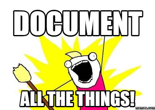 document all the things