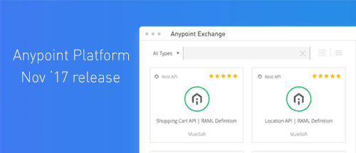 anypoint exchange platform nov release