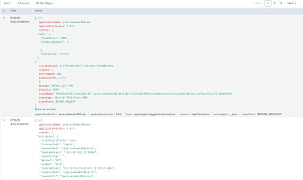 JSON logger configuration code screenshot