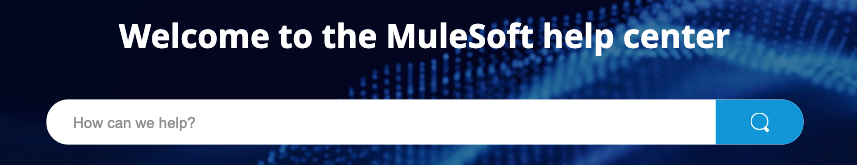 MuleSoft Help Center search tool