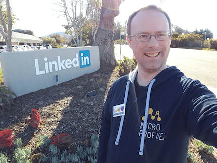 Alex Theedom at LinkedIn campus in Los Angeles