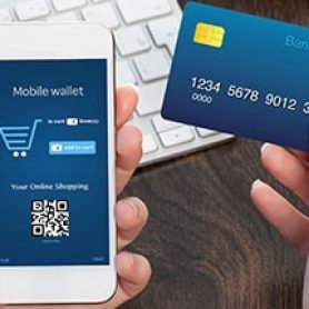 mobile wallet and credit card